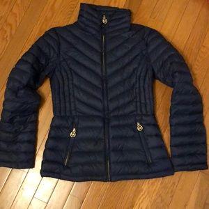 Michael Kors Navy Packable Down Jacket